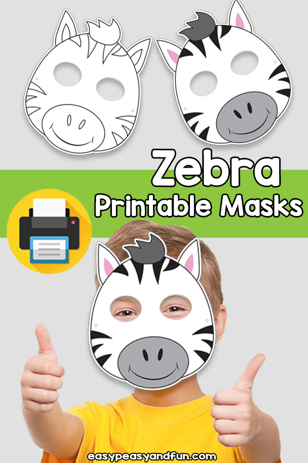 Printable Zebra Mask Template