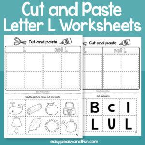 Cut and Paste Letter L Worksheets (1)