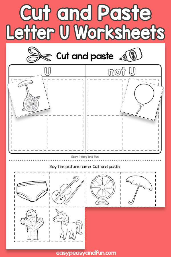Cut And Paste Letter U Worksheets Easy Peasy And Fun Membership