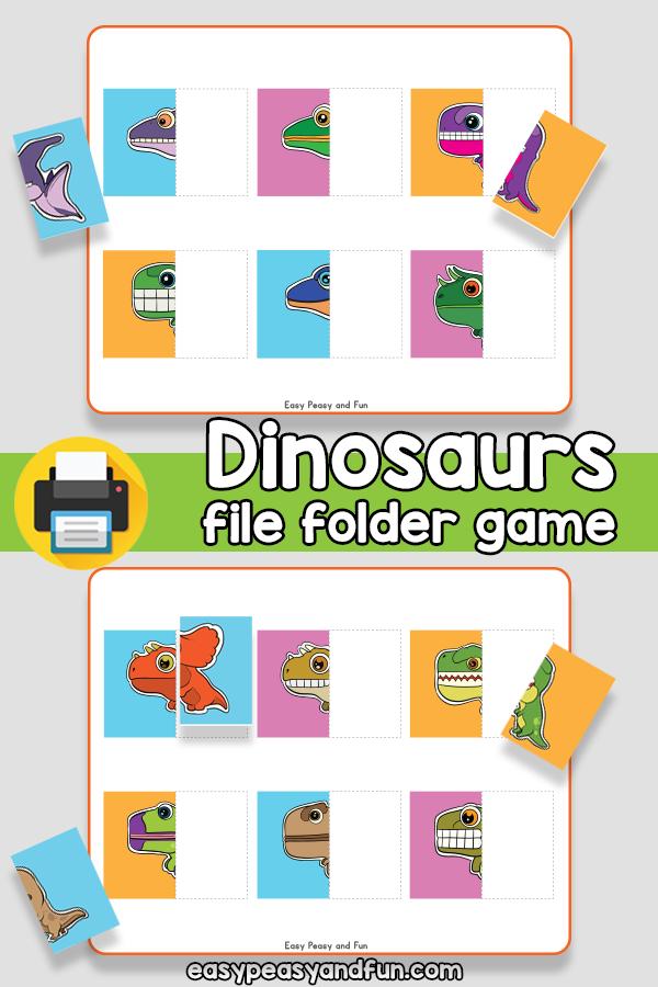 Dinosaurs File Folder Game
