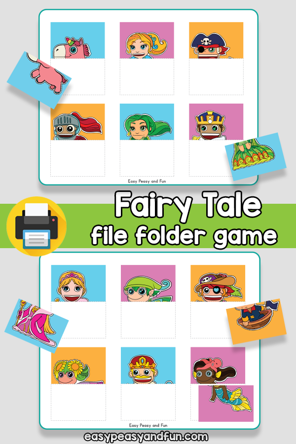 Fairy Tale File Folder Game