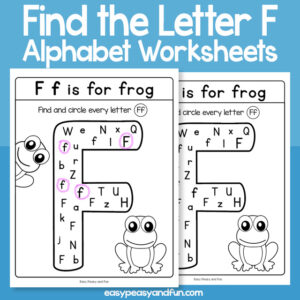 Find the Letter F Worksheets