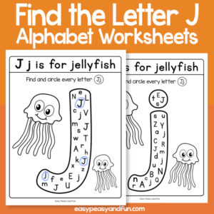 Find the Letter J Worksheets