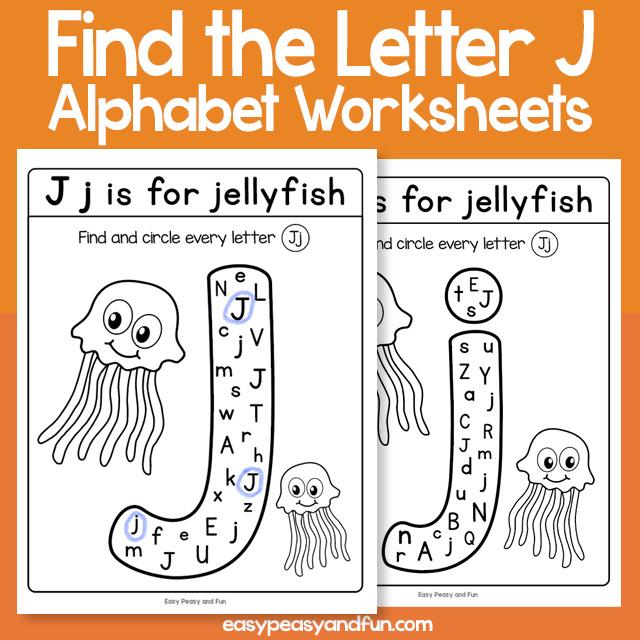 Find the Letter J Worksheets