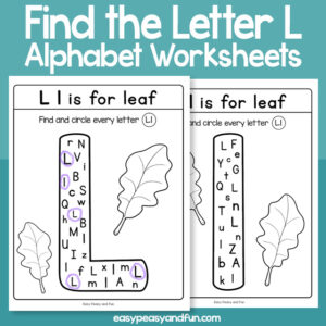 Find the Letter L Worksheets