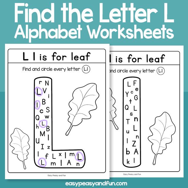 Find the Letter L Worksheets