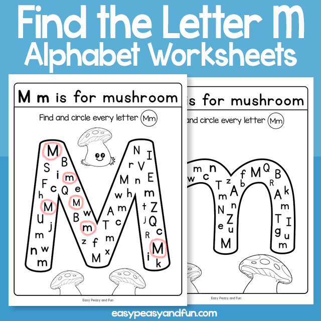 Find the Letter M Worksheets