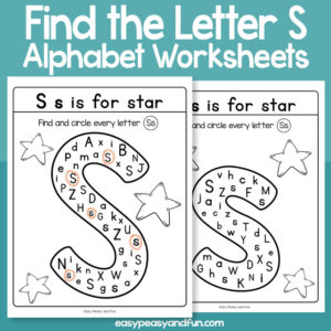 Find the Letter S Worksheets