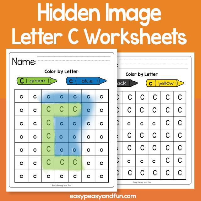 Hidden Image Letter C Worksheets
