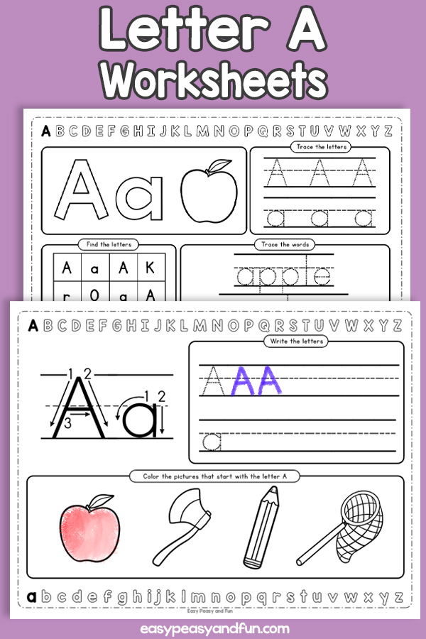 Letter A Worksheets - Alphabet Worksheets
