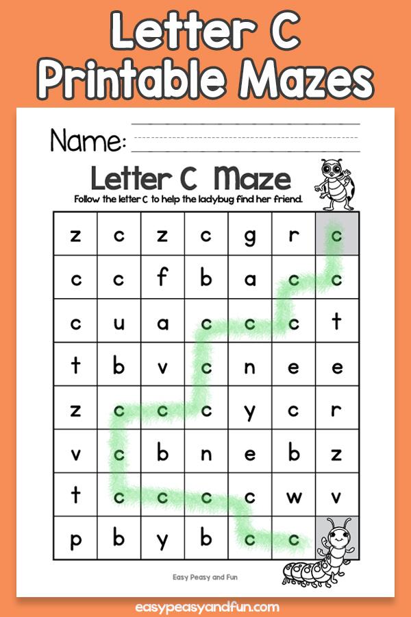 Letter C Mazes for Kids