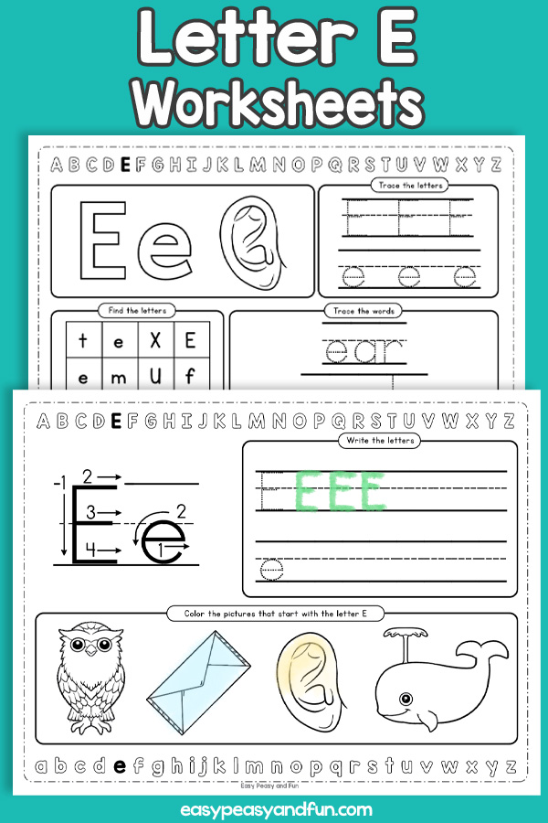 Letter E Worksheets - Alphabet Worksheets