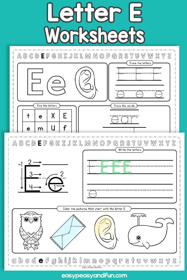 Letter E Worksheets - Alphabet Worksheets