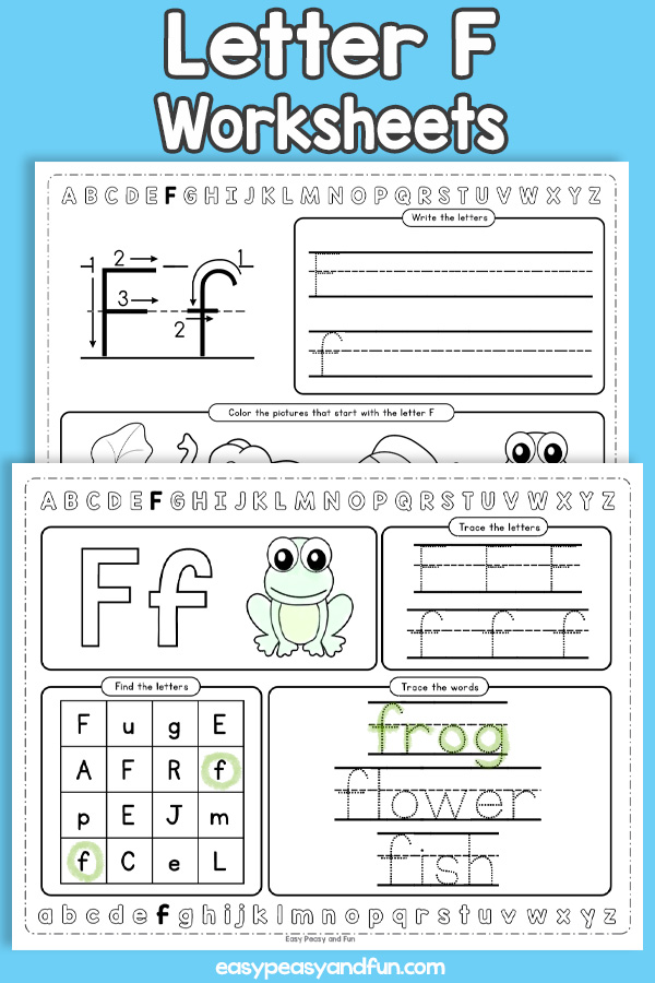Letter F Worksheets - Alphabet Worksheets