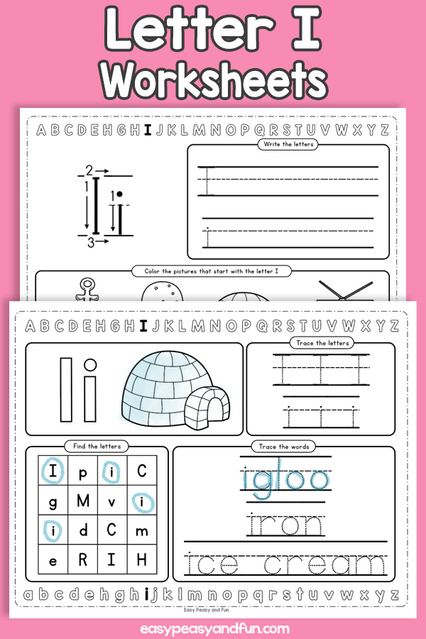 Letter I Worksheets - Alphabet Worksheets