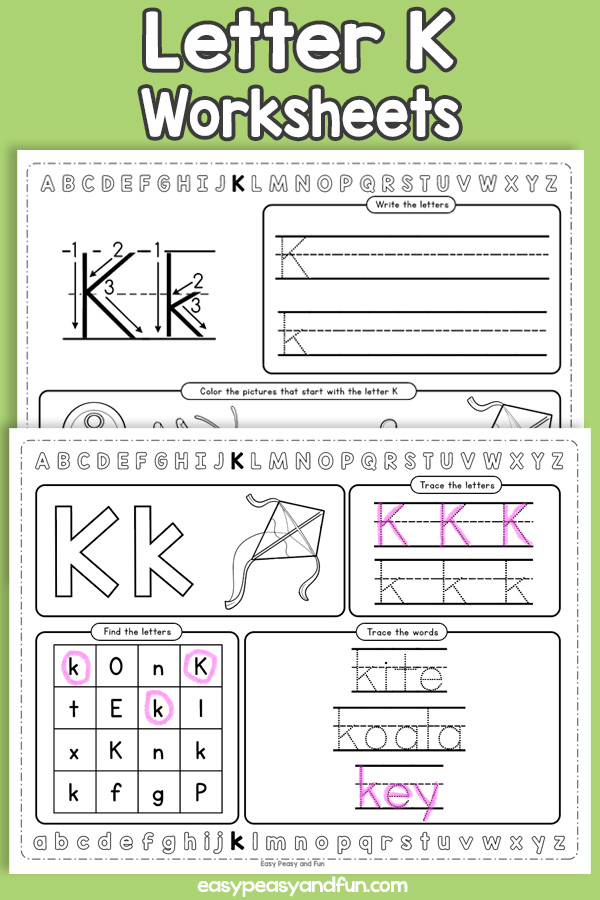 Letter K Worksheets - Alphabet Worksheets