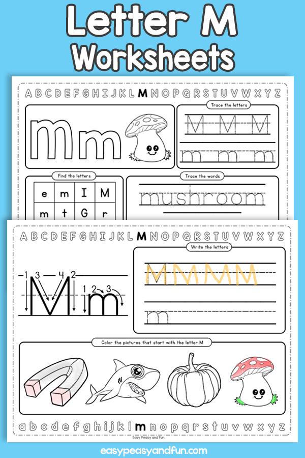 Letter M Worksheets - Alphabet Worksheets