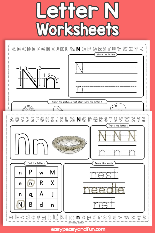 Letter N Worksheets - Alphabet Worksheets