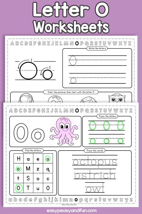 Letter O Worksheets - Alphabet Worksheets