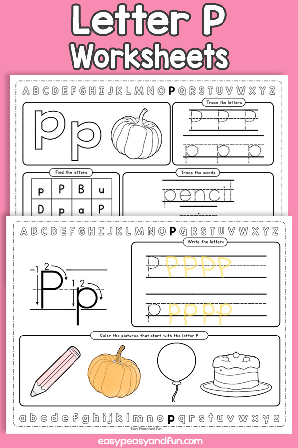 Letter P Worksheets - Alphabet Worksheets