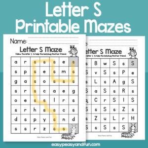 Letter S Mazes