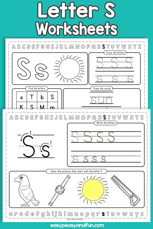 Letter S Worksheets - Alphabet Worksheets