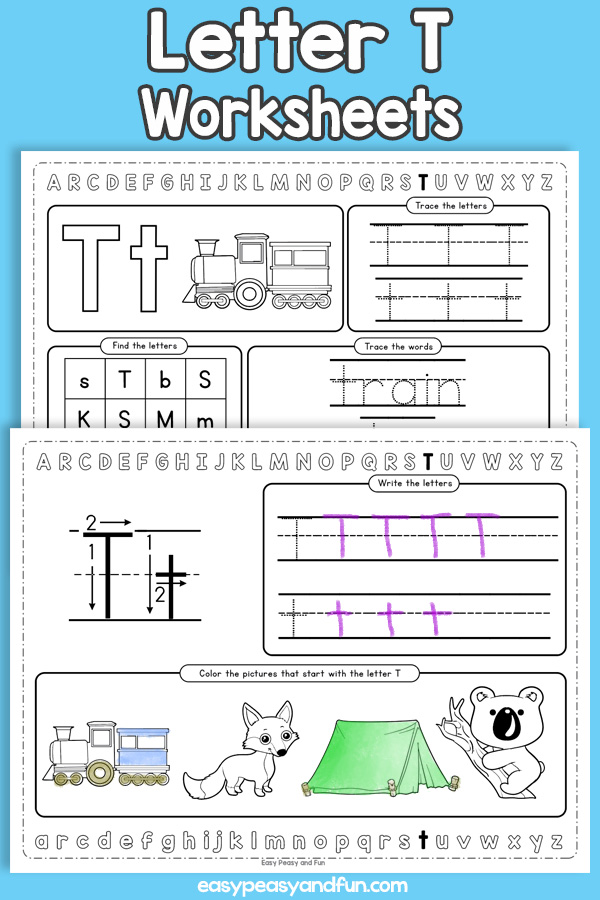 Letter T Worksheets - Alphabet Worksheets