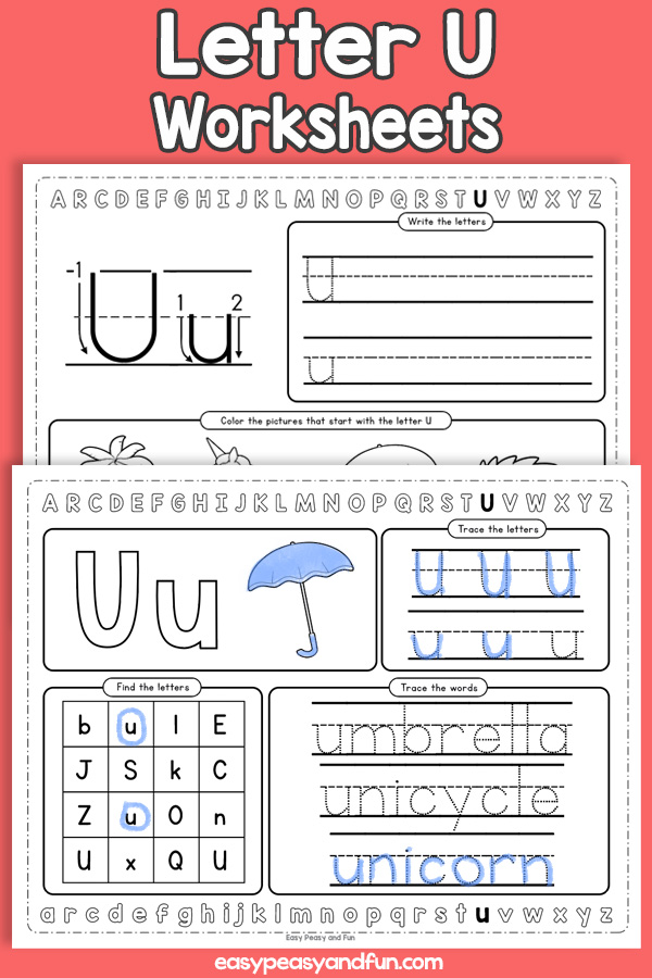 Letter U Worksheets - Alphabet Worksheets