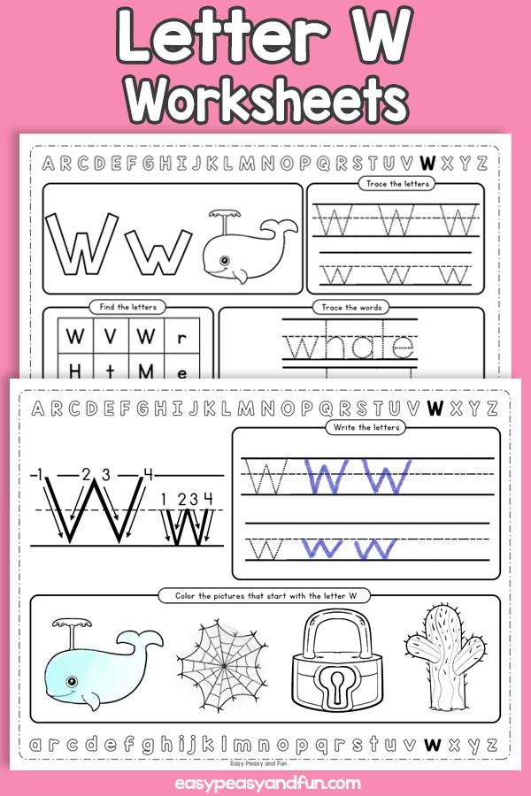 Letter W Worksheets - Alphabet Worksheets