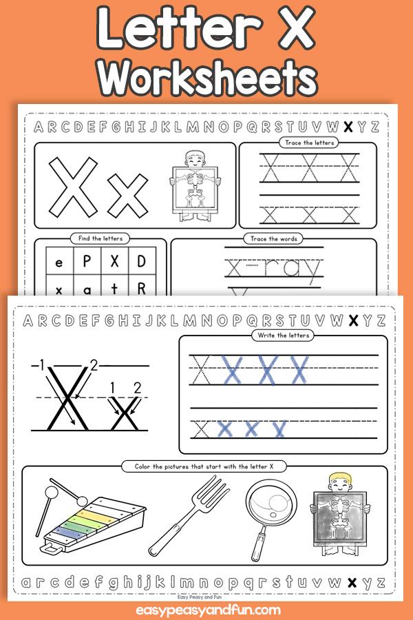 Letter X Worksheets - Alphabet Worksheets