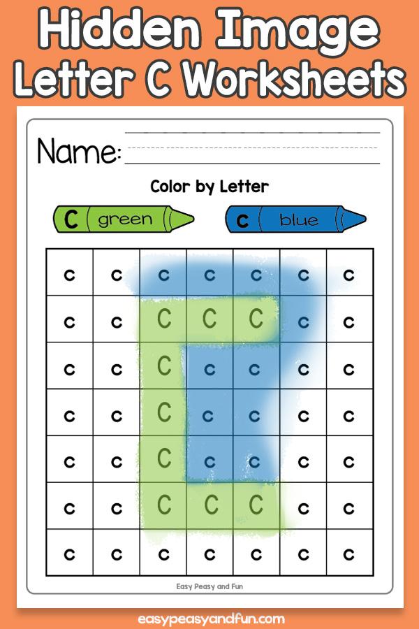 Printable Hidden Image Letter C Worksheets