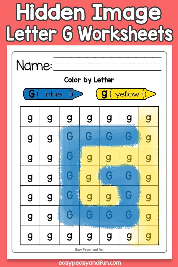 Printable Hidden Image Letter G Worksheets