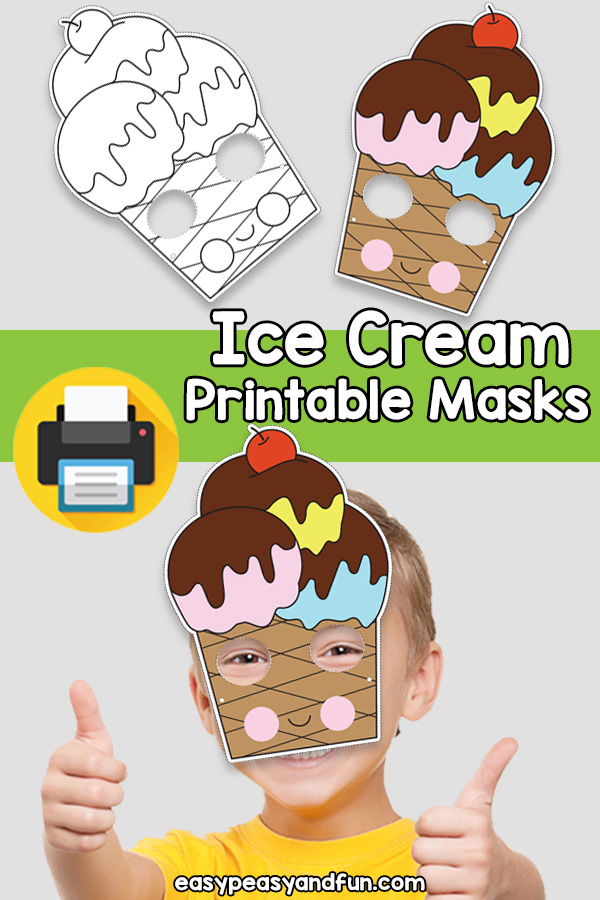 Printable Ice Cream Mask Template