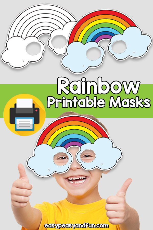 Printable Rainbow Mask Template