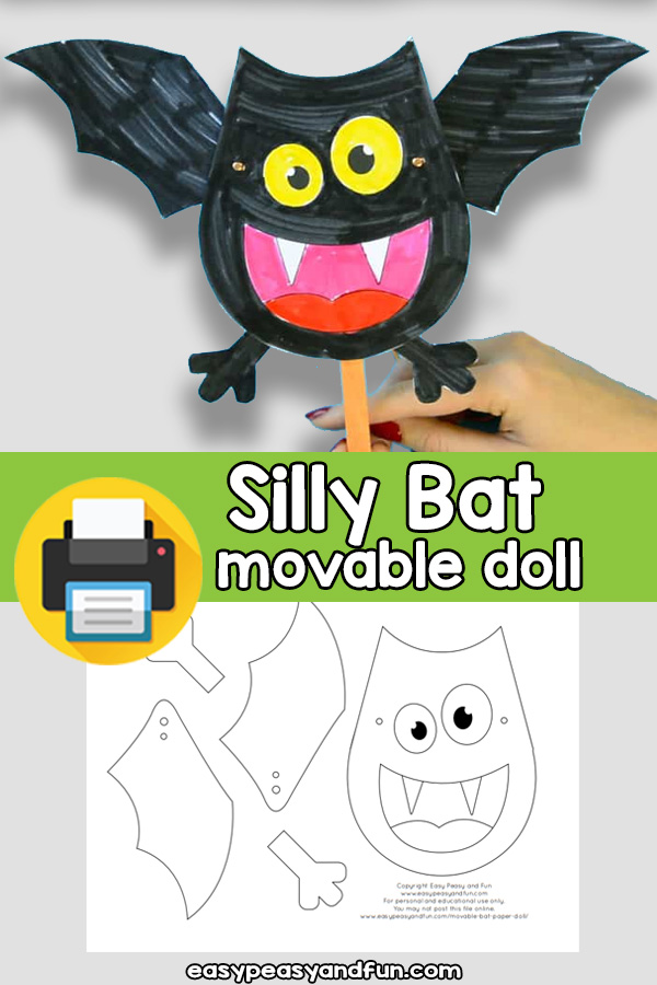 Silly Bat Movable Paper Doll