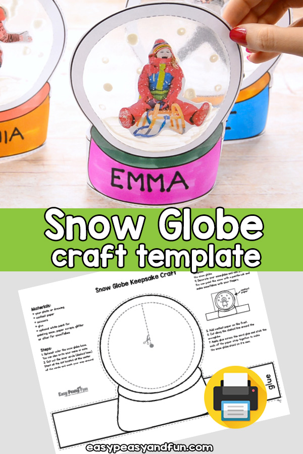 Photo Snowglobe Craft Template - Make a Christmas Keepsake or an Ornament