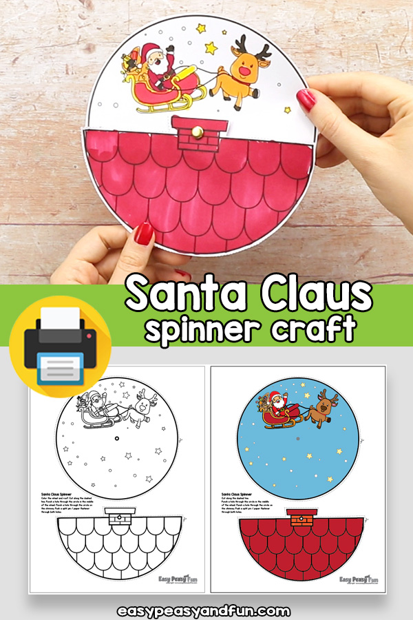 Santa Claus Spinner Craft Template