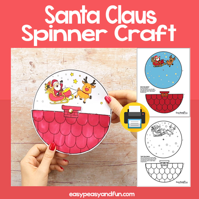 Santa Claus Spinner Craft
