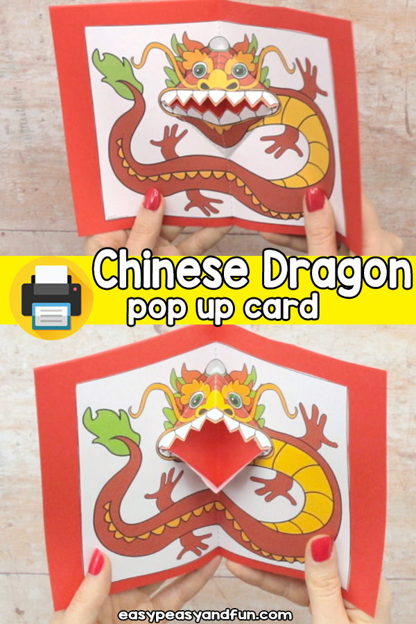 Chinese Dragon Pop Up Card