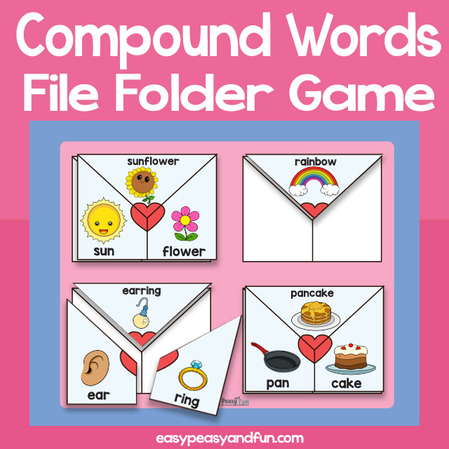 Love Notes Compound Words File Folder Game