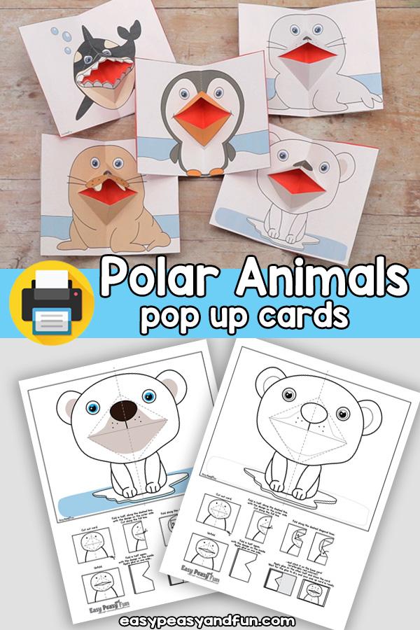 Polar Animals Pop Up Card Templates
