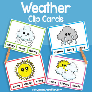 Weather Clip Cards