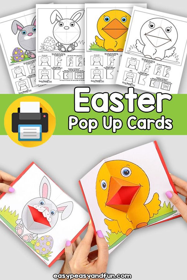 Easter Pop Up Cards - Printable Easter Craft