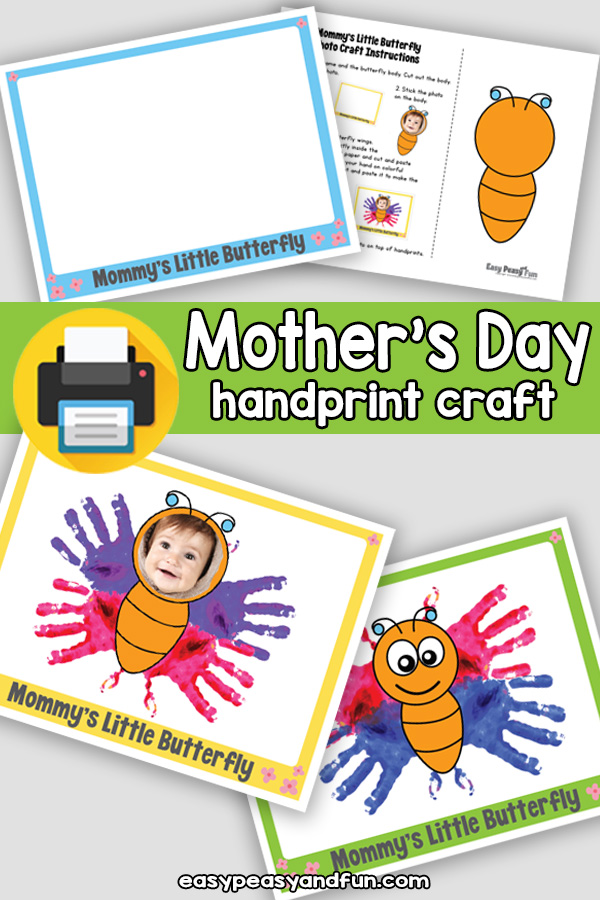 Mommy's Little Butterfly Handprint Mother's Day Craft