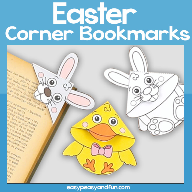 Printable Easter Corner Bookmarks