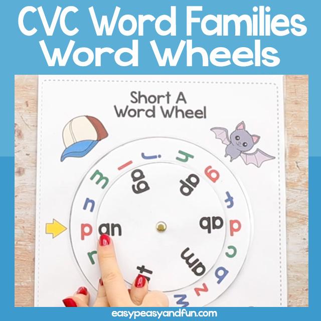 CVC Word Families Wheel