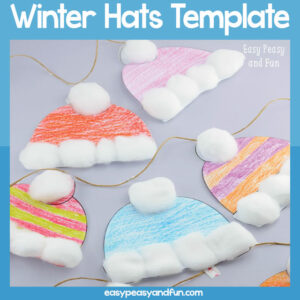 Winter Hats Template