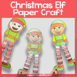 Christmas Elf Paper Craft Template