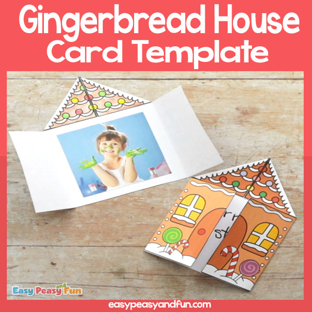 Gingerbread house Card Template