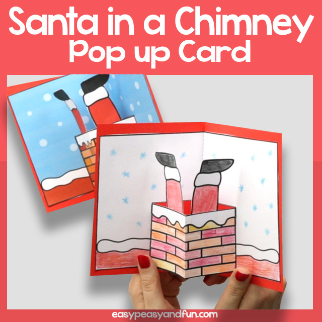 Santa in a Chimney Pop up